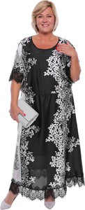 Sukienka modneduzerozmiary.pl z okrągłym dekoltem