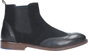Granatowe buty zimowe Wojas