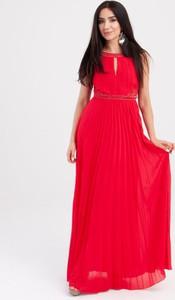 Sukienka Butik Ecru bez rękawów z okrągłym dekoltem