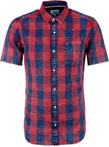 Czerwona koszula Q/s Designed By - S.oliver w stylu casual
