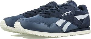 Niebieskie buty sportowe Reebok z zamszu