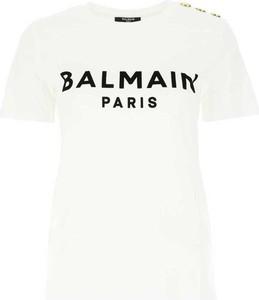 T-shirt Balmain z krótkim rękawem w młodzieżowym stylu z okrągłym dekoltem