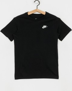 Czarna koszulka dziecięca Nike z krótkim rękawem z bawełny
