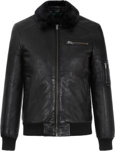 Czarna kurtka Ochnik krótka z bawełny w stylu casual