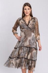 Sukienka Semper w stylu boho z długim rękawem