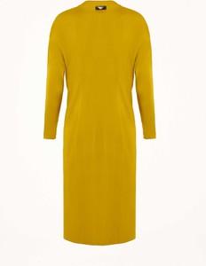 Żółta sukienka Byinsomnia z dekoltem w kształcie litery v midi