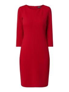 Czerwona sukienka Montego w stylu casual mini z okrągłym dekoltem
