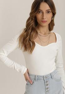Bluzka Renee w stylu casual z długim rękawem z okrągłym dekoltem
