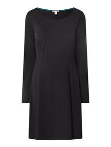 Czarna sukienka Esprit z długim rękawem prosta mini