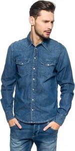 Granatowa koszula Pepe Jeans z długim rękawem