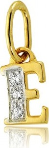 """Hosa Złota literka """"E"""" z cyrkoniami (łączone złoto) (próba 333)"""