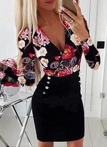 Sukienka Cikelly mini dopasowana z dekoltem w kształcie litery v