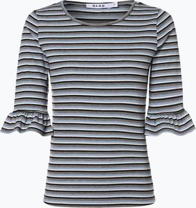 Niebieski t-shirt NA-KD z okrągłym dekoltem