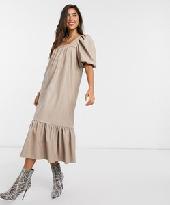 Sukienka Asos baskinka ze skóry
