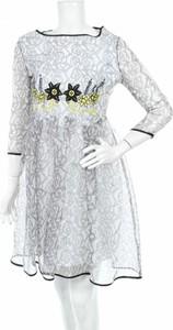 Sukienka Pf Paola Frani z długim rękawem rozkloszowana mini
