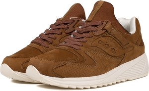 Brązowe buty sportowe Saucony sznurowane w sportowym stylu