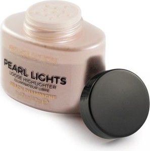 Makeup Revolution Pearl Lights Loose Highlighter Peach Champagne puder do twarzy sypki rozświetlający 25 g