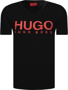 Czarny t-shirt Hugo Boss z bawełny