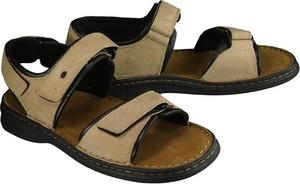 Brązowe buty letnie męskie Josef Seibel ze skóry na rzepy