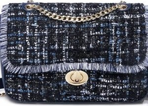 e704aaa8fb449 Niebieska torebka Nucelle średnia ze skóry ekologicznej w stylu casual