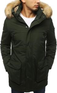 Zielona kurtka Dstreet długa w stylu casual