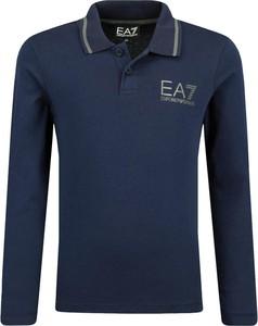 Niebieska koszulka dziecięca EA7 Emporio Armani