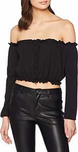 Czarna bluzka amazon.de z długim rękawem
