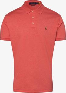 Różowy t-shirt POLO RALPH LAUREN z dżerseju w stylu casual
