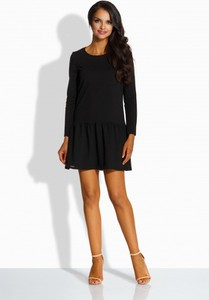 Czarna sukienka Lemoniade z długim rękawem mini