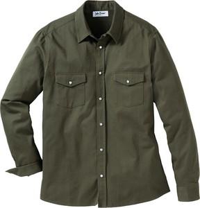 Zielona koszula bonprix John Baner JEANSWEAR