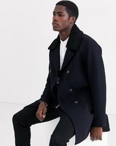 Granatowy płaszcz męski Selected Homme