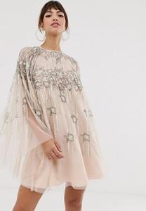 Sukienka Asos z długim rękawem mini