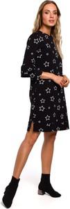 Sukienka MOE z bawełny z okrągłym dekoltem mini