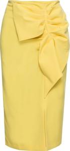 Żółta spódnica bonprix BODYFLIRT midi