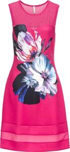 Różowa sukienka bonprix BODYFLIRT boutique bez rękawów midi