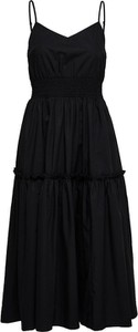 Czarna sukienka Selected Femme mini na ramiączkach