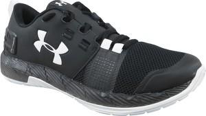 Czarne buty sportowe Under Armour w sportowym stylu sznurowane