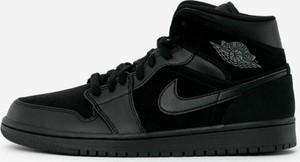 Czarne buty sportowe Jordan ze skóry