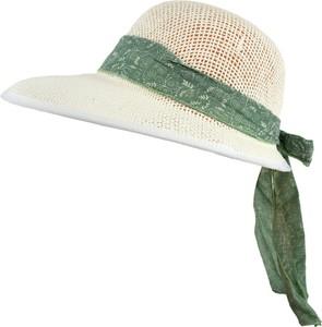 Jk collection kapelusz letni. - biały || zielony