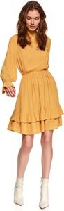 Sukienka Top Secret mini w stylu casual z długim rękawem