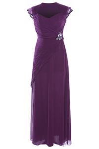 Sukienka Fokus z dekoltem w kształcie litery v z szyfonu z krótkim rękawem