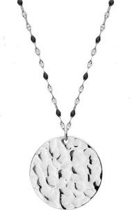 Manoki WA469 naszyjnik medalion młotkowany
