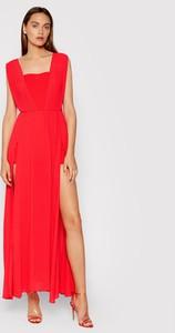 Sukienka Rinascimento maxi z dekoltem w kształcie litery v bez rękawów