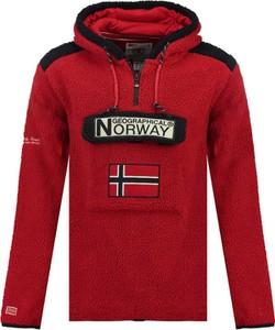 Czerwona bluza Geographical Norway z bawełny
