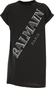 Czarna sukienka dziewczęca Balmain