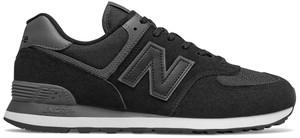 Czarne buty sportowe New Balance ze skóry sznurowane 574