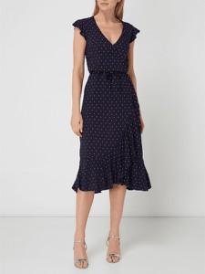 07bab3b9bf Granatowa sukienka Jake s Collection w stylu casual midi