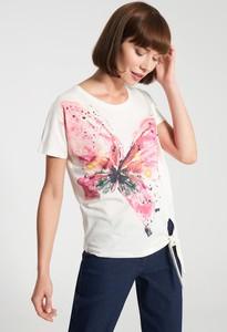 Bluzka QUIOSQUE z krótkim rękawem z nadrukiem z okrągłym dekoltem