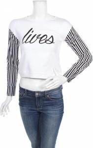 Bluzka Fun & Fun z długim rękawem w młodzieżowym stylu z okrągłym dekoltem