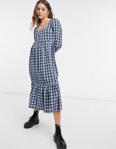 Niebieska sukienka New Look z długim rękawem w stylu casual